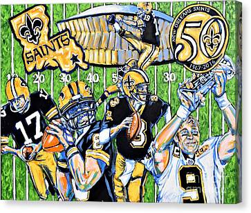 50 Years Of Saints Canvas Print by Tami Curtis