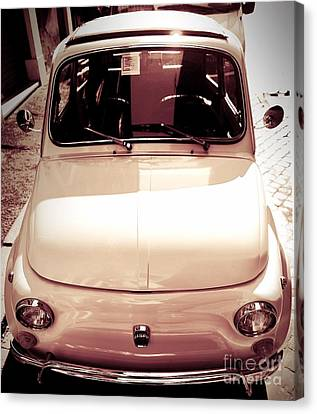 500 Fiat Toned Sepia Canvas Print by Stefano Senise