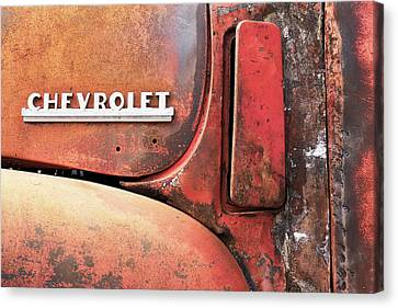 50s Chevrolet Pickup Logo Canvas Print by Jim Hughes