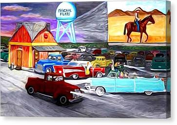 50s Drive In Theatre Canvas Print
