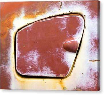 50s Plymouth Savoy Gas Cap Canvas Print by Jim Hughes