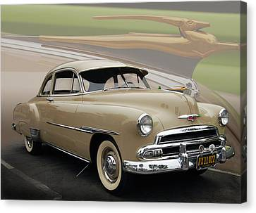 51 Chevrolet Deluxe Canvas Print by Bill Dutting
