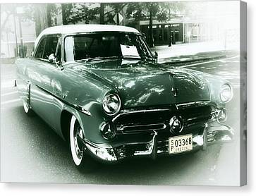 '52 Ford Victoria Hard Top Canvas Print by Cathie Tyler