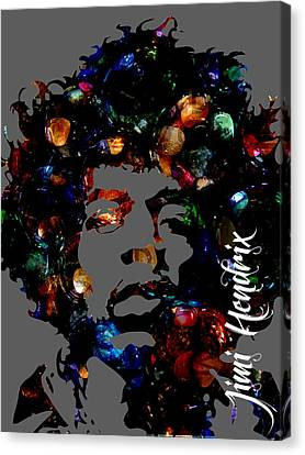 Rock And Roll Canvas Print - Jimi Hendrix Collection by Marvin Blaine