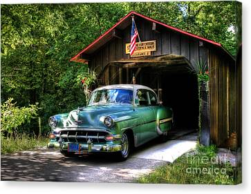 54 Chevy Canvas Print by Joel Witmeyer