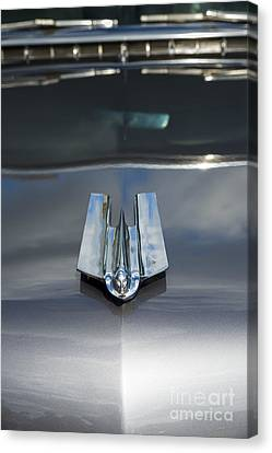55 Cadillac Hood Ornament Canvas Print
