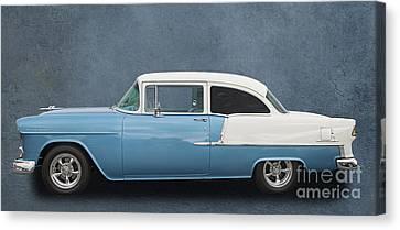 55 Chev Canvas Print by Jim  Hatch