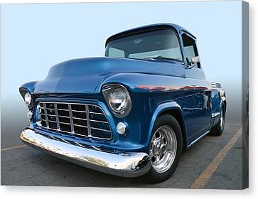 55 Chev Stepside Canvas Print by Bill Dutting