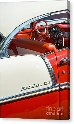 Fifties Automobile Canvas Print - 55 Chevrolet Sport Coupe by Tim Gainey