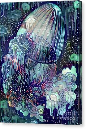 Abstract Jellyfish Canvas Print