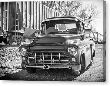 56 Chevy Truck Canvas Print by Guy Whiteley