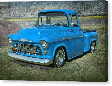 '56 Chevy Truck Canvas Print by Victor Montgomery