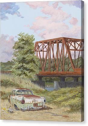 '56 Customline Canvas Print by Scott Lang