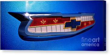 57 Chevy Bel Air Badge  Canvas Print by Olivier Le Queinec