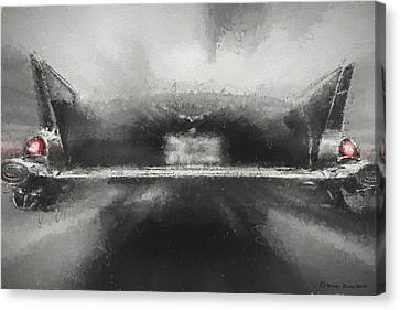 57' Chevy Mood Canvas Print by Marvin Spates