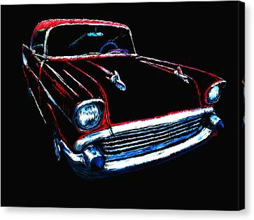 57 Chevy Canvas Print by Tim Tompkins