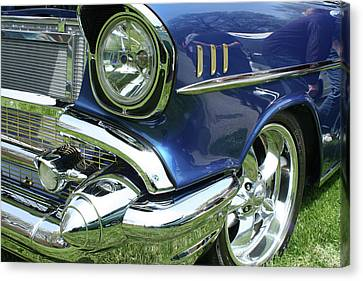 57 Chevy Canvas Print - 57 Chevy, Too by Mickey Flodin