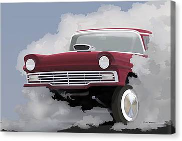 57 Ford Gasser Canvas Print by Colin Tresadern