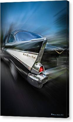 Grill Canvas Print - 57' Go Power by Marvin Spates
