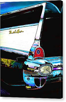 57 Chevy Canvas Print - 57 Oh What A Night by Randall Easterling