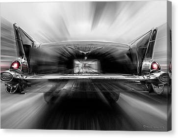 Grill Canvas Print - 57' Taillights by Marvin Spates