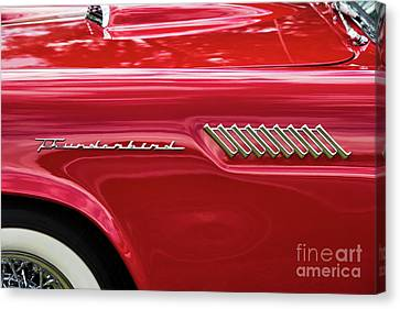 Canvas Print featuring the photograph 57 Thunderbird Abstract by Tim Gainey