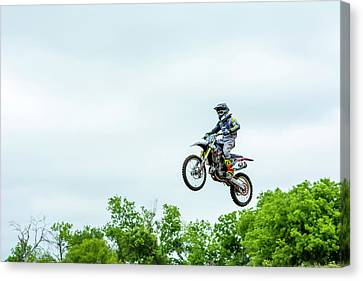 Canvas Print featuring the photograph 573 Flying High At White Knuckle Ranch by David Morefield