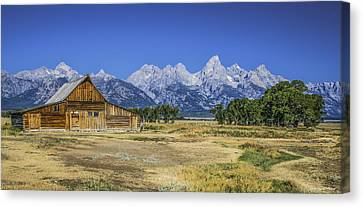 #5730 - Mormon Row, Wyoming Canvas Print