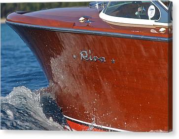 Riva Aquarama Canvas Print by Steven Lapkin