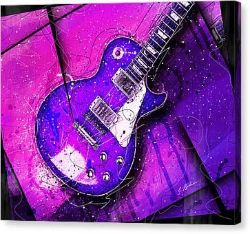 Van Halen Canvas Print - 59 In Blue by Gary Bodnar