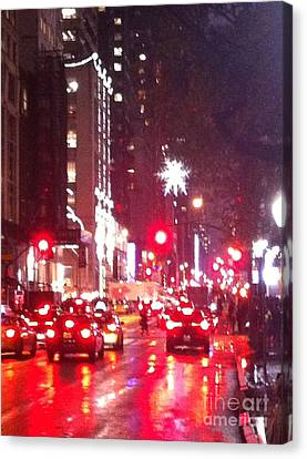 5th Ave New York Christmas Season Canvas Print by Ken Lerner
