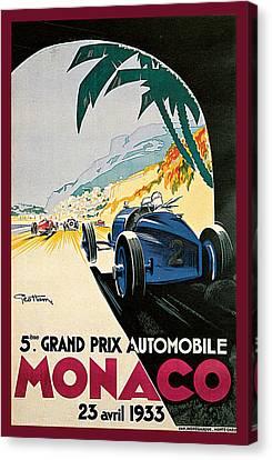 5th Grand Prix De Monaco Canvas Print by Geo Ham