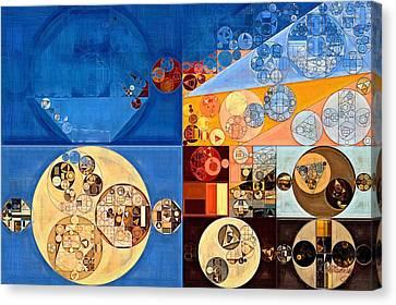 Geometric Style Canvas Print - Abstract Painting - Lapis Lazuli by Vitaliy Gladkiy
