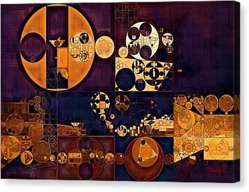 Geometric Style Canvas Print - Abstract Painting - Seal Brown by Vitaliy Gladkiy