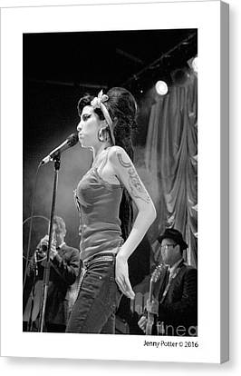 Amy Winehouse Canvas Print by Jenny Potter
