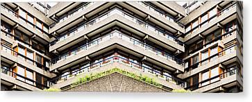 Brutalist Canvas Print - Apartment Building by Tom Gowanlock