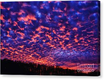 Canvas Print featuring the photograph Appalachian Sunset Afterglow by Thomas R Fletcher