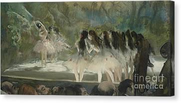 Ballet At The Paris Opera Canvas Print by Edgar Degas