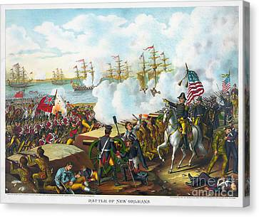 Battle Of New Orleans Canvas Print by Granger
