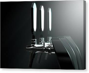 Booze Canvas Print - Beer Tap by Allan Swart