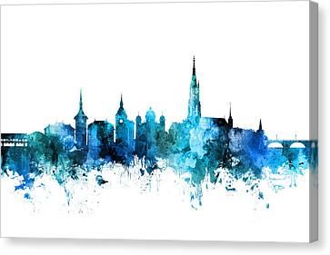 Switzerland Canvas Print - Bern Switzerland Skyline by Michael Tompsett
