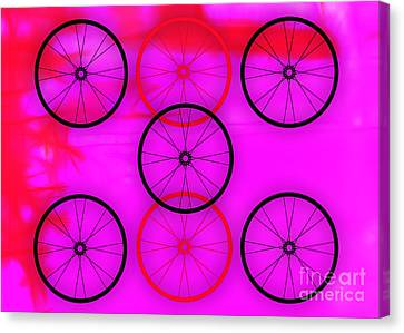 Bicycle Race Canvas Print - Bicycle Wheel Collection by Marvin Blaine