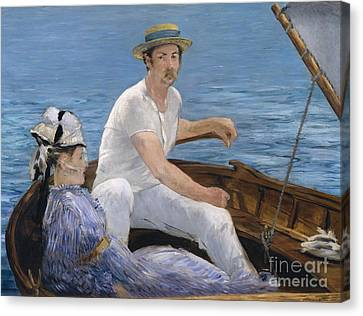 1874 Canvas Print - Boating by Edouard Manet