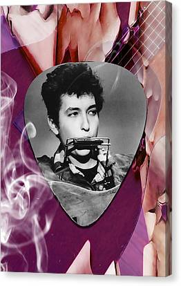 Bob Dylan Art Canvas Print by Marvin Blaine