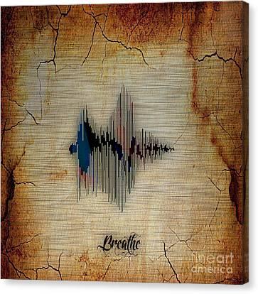 Breathe Spoken Soundwave Canvas Print by Marvin Blaine