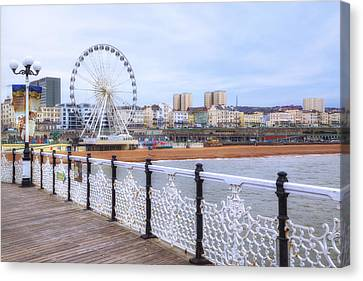 Brighton Pier Canvas Print by Joana Kruse