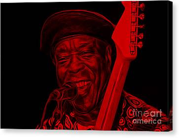 Guitar Canvas Print - Buddy Guy Collection by Marvin Blaine