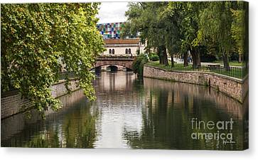 Canals Of Strasbourg Canvas Print by Yefim Bam