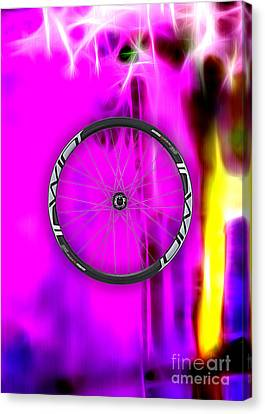Bicycle Race Canvas Print - Carbon Fiber Bicycle Wheel Collection by Marvin Blaine
