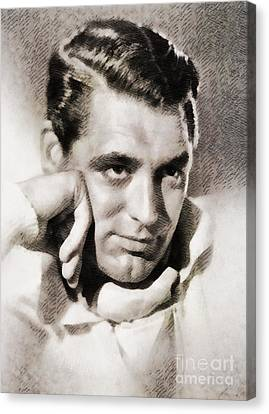 Cary Grant, Vintage Hollywood Actor Canvas Print by John Springfield